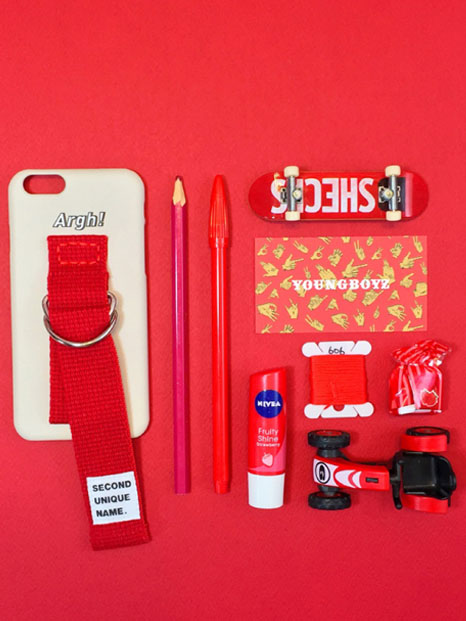 SUN CASE IVORY RED(WORD)