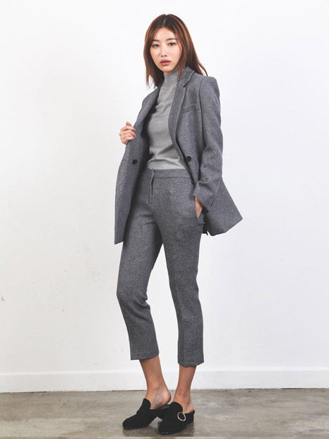 SIMPLE TAILORED JACKET + PANTS GRAY