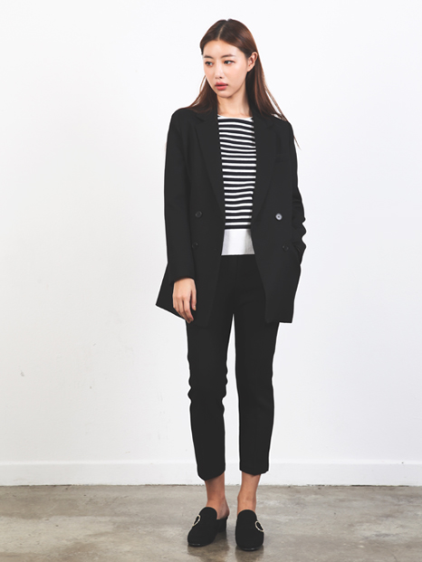 SIMPLE TAILORED JACKET + PANTS BLACK