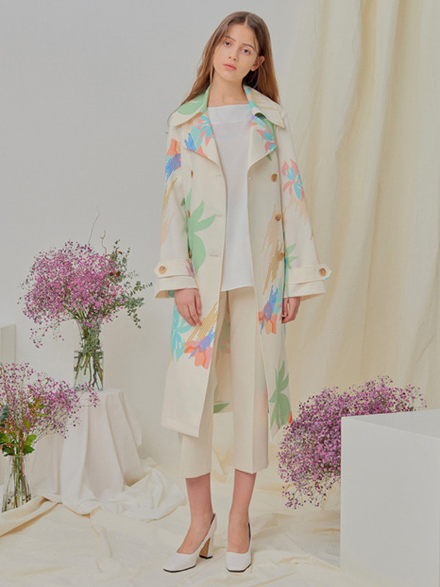 [NUPARCC]Painted Floral Trench