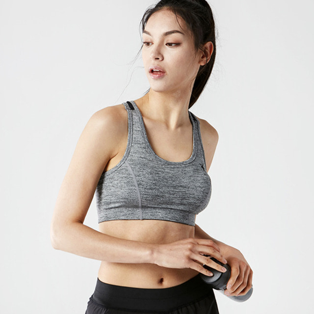 AKIIICLASSIC SPORTS PAD BRA TOP GRAY
