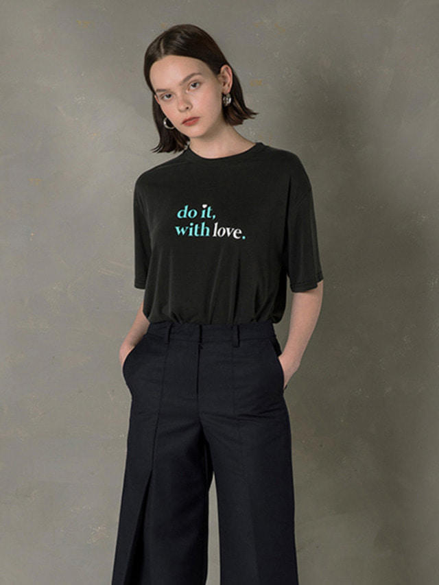 [NUPARCC]DO IT WITH LOVE CAMPAIGN TEE BLACK