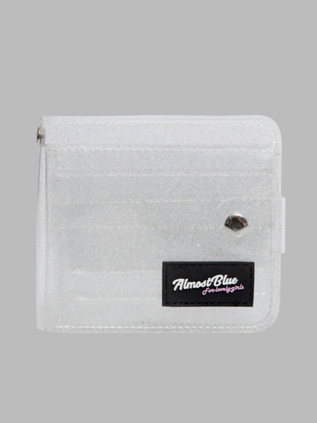 [ALMOST BLUE] TWINKLE JELLY WALLET WHITE 7/26発送予定