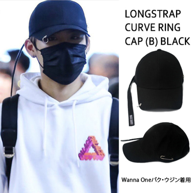 [MACK BARRY] MACK BARRY LONGSTRAP CURVE RING CAP (B) BLACK_WANNAONE