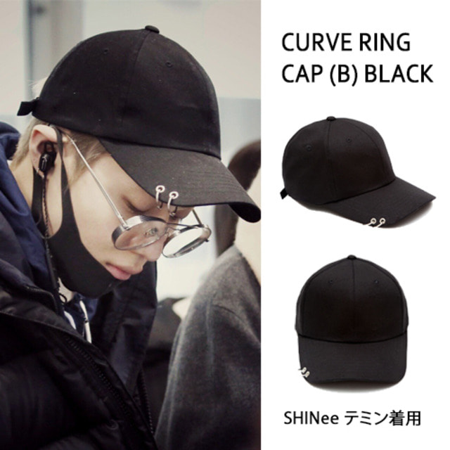 [MACK BARRY] MACK BARRY CURVE RING CAP (B) BLACK_SHINEE