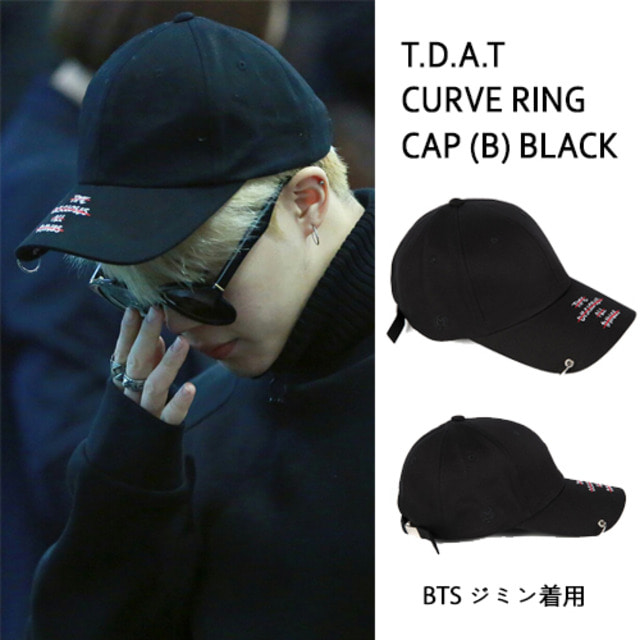 [MACK BARRY] MACK BARRY T.D.A.T CURVE RING CAP (B) BLACK_BTS