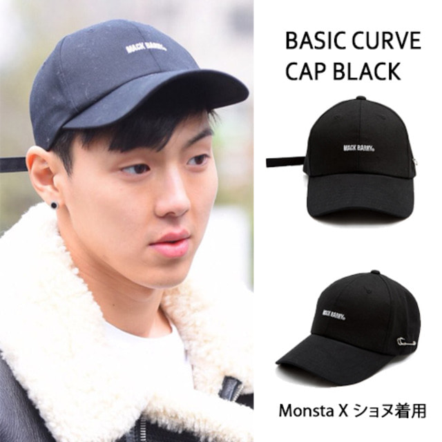 [MACK BARRY] MACK BARRY BASIC CURVE CAP BLACK_MONSTAX