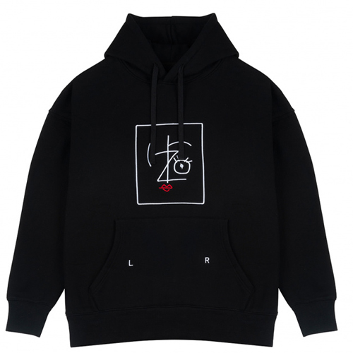 [IZRO] PENCIL HOODY BLACK