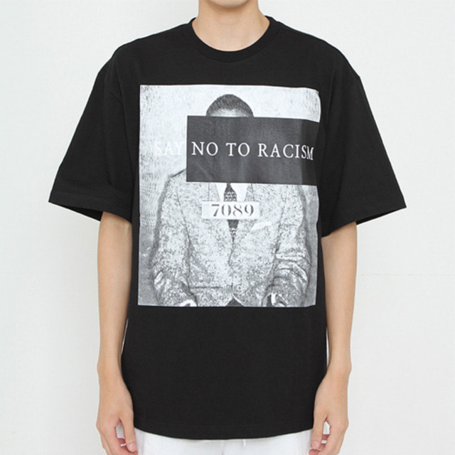 [JUSTO] WANTED OVER T-SHIRTS BLACK