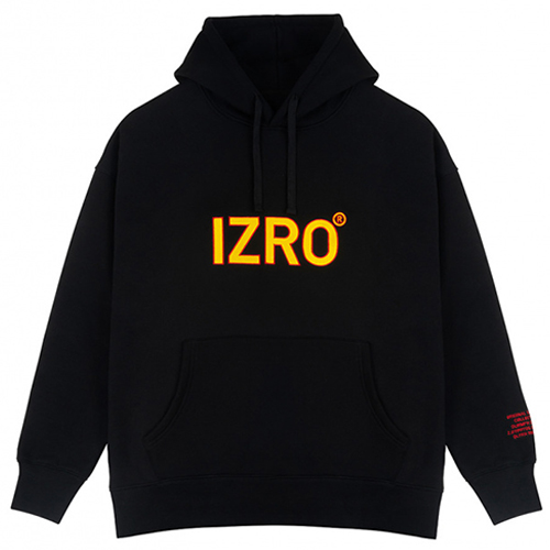 [IZRO] REFLECT HOODY BLACK