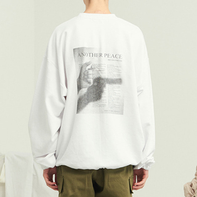 [13MONTH] PEACE WAIST STRING SWEAT SHIRT WHITE