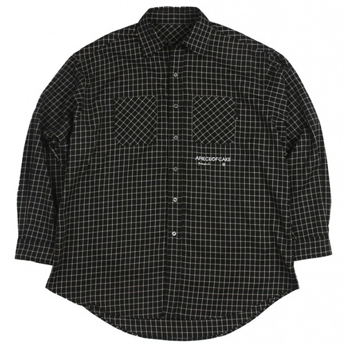 [APOC] SQURE CHECK SHIRTS BLACK