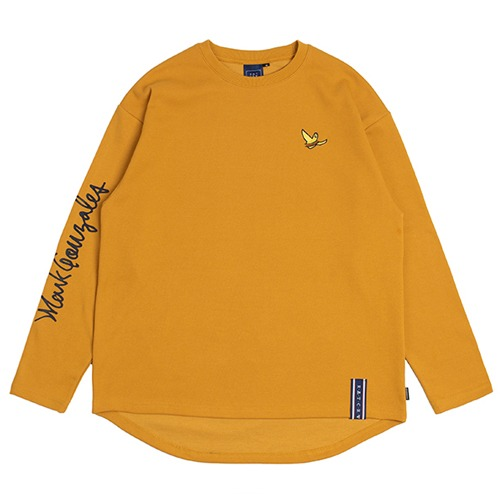 [ROMANTICCROWN][R.C X M.G]FLAG GONZ LONG SLEEVE YELLOW