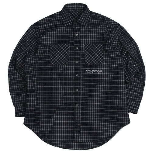 [APOC] SQURE CHECK SHIRTS NAVY