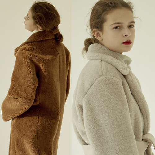 [MOHAN] 18FW REAL WOOL SHEARING LONG COAT 2COLOR