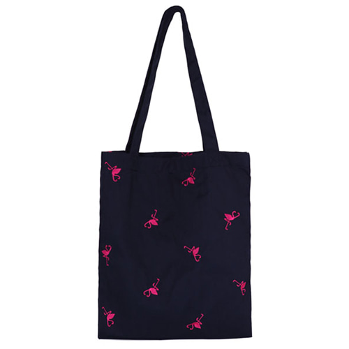 Special klover pattern shoulder bag - navy