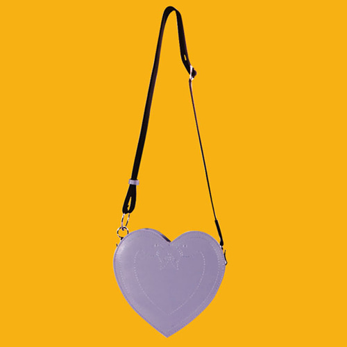 Klover Stitch Heart Bag_Light PurPle