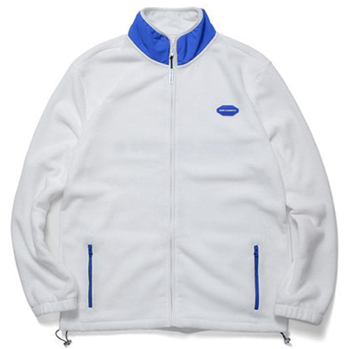 [BORNCHAMPS] BCR POLAR FLEECE ZIP-UP WHITE CERDMJK03WH