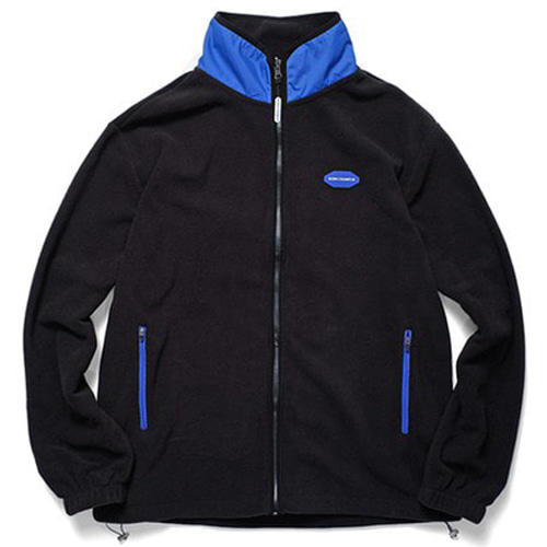 [BORNCHAMPS] BCR POLAR FLEECE ZIP-UP BLACK CERDMJK03BK