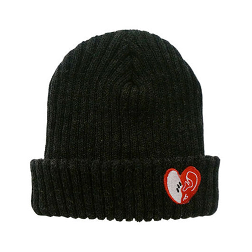 bpb MIX LUV BEANIE (DARK GRAY)