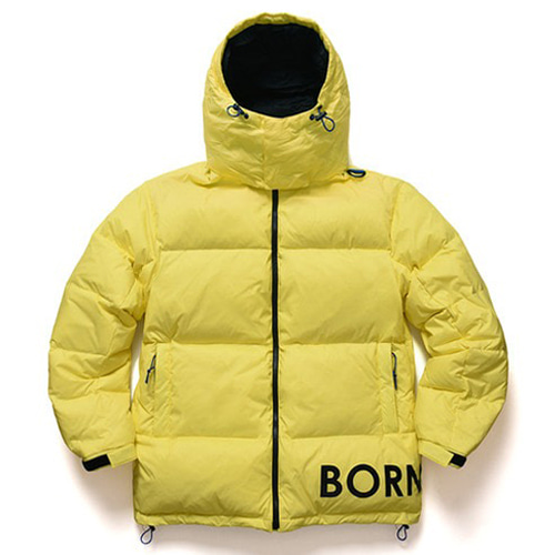 [BORNCHAMPS] SIDE LOGO DOWN PARKA YELLOW CERDMDW02YE