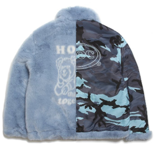[APOC] HTT FUR JACKET SKYBLUE