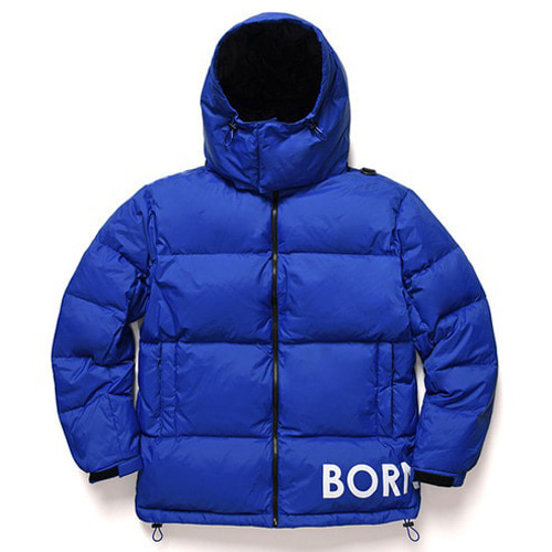 [BORNCHAMPS] SIDE LOGO DOWN PARKA BLUE CERDMDW02BL