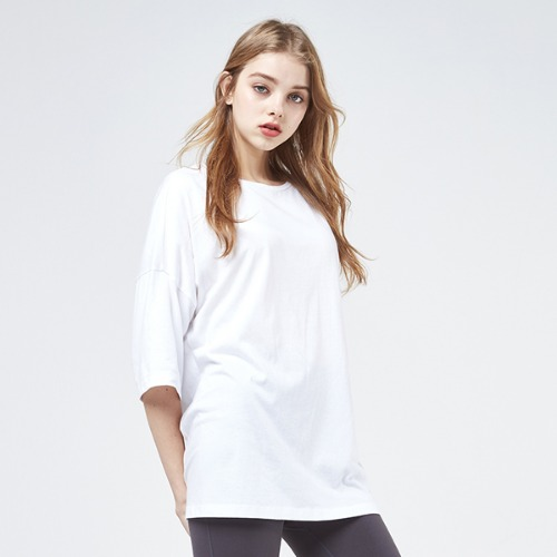 [AKIIICLASSIC]LOOSE FIT T SHIRT WHITE