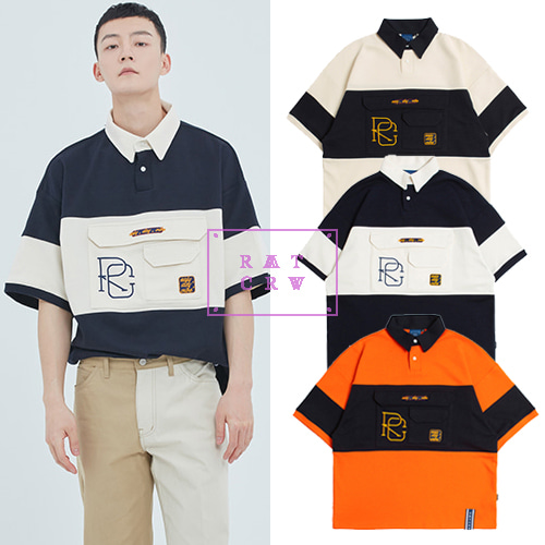 [ROMANTICCROWN] RC BIG POCKET POLO SHIRT 3COLOR