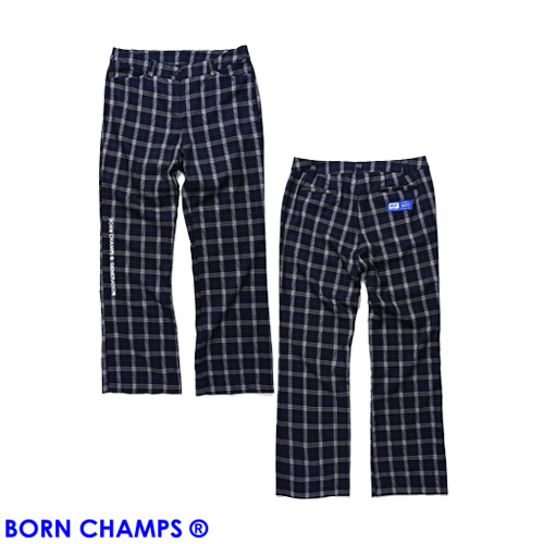 [BORNCHAMPS] BCG CHECK PANTS CESAGTP01BL