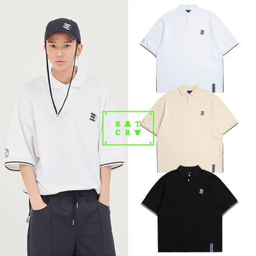 [ROMANTICCROWN] E.D.V PIPING PIQUE SHIRT 3COLOR