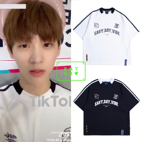 [ROMANTICCROWN] E.D.V FOOT BALL JERSEY 2COLOR_PRODUCE X 101
