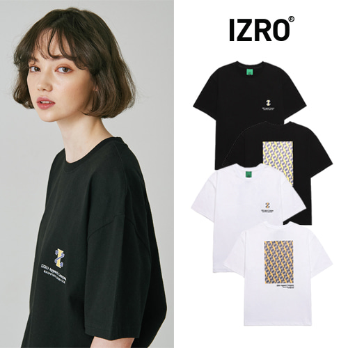 [IZRO] CERULEAN MONOGRAM T SHIRT 2COLOR