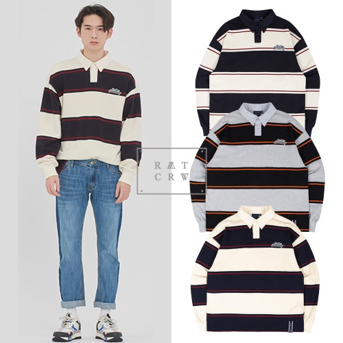 [ROMANTICCROWN] STRIPED POLO SHIRT 3COLOR