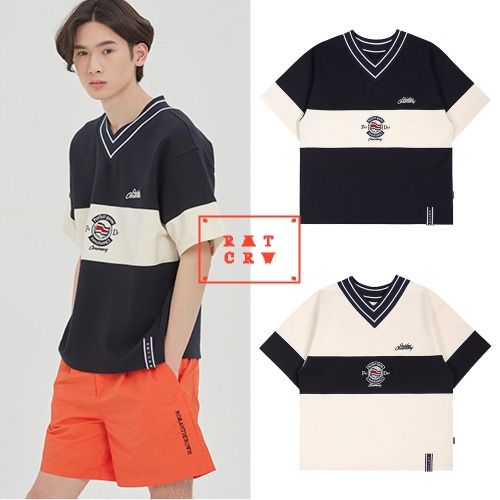 [ROMANTICCROWN] PERFECT GAME V NECK JERSEY 2COLOR