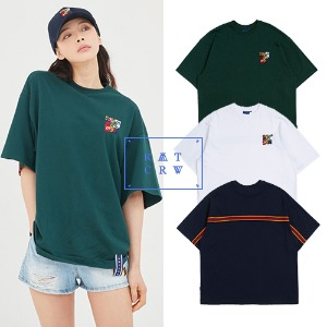 [ROMANTICCROWN] SPLINTER BACK LINE T SHIRT 3COLOR